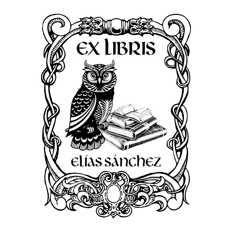 Mapa de bits en EXLIBRIS BUHO.cdr